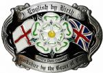 Yorkshire by the Grace of God  English by Birth Belt Buckle with display stand. Code WD7